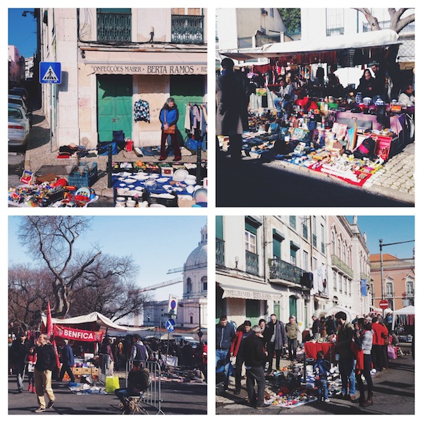 Flohmarkt in Lissabon