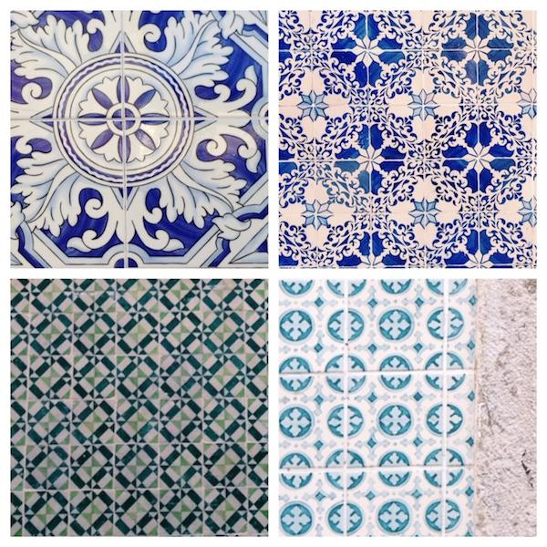 blaue azulejos in lissabon