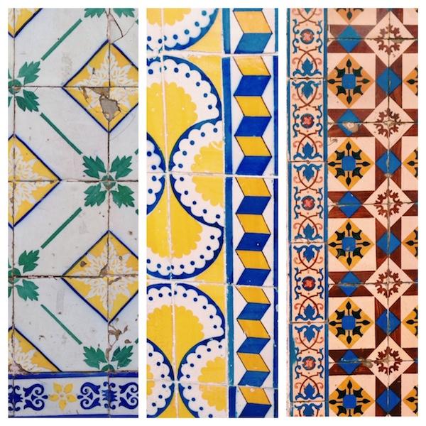 gelbe azulejos in lissabon
