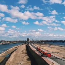 Hamburg Hafen Woken Weite