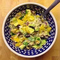 couscous salat avocado orangen basilikum vegan