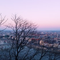 Abendrot in Budapest