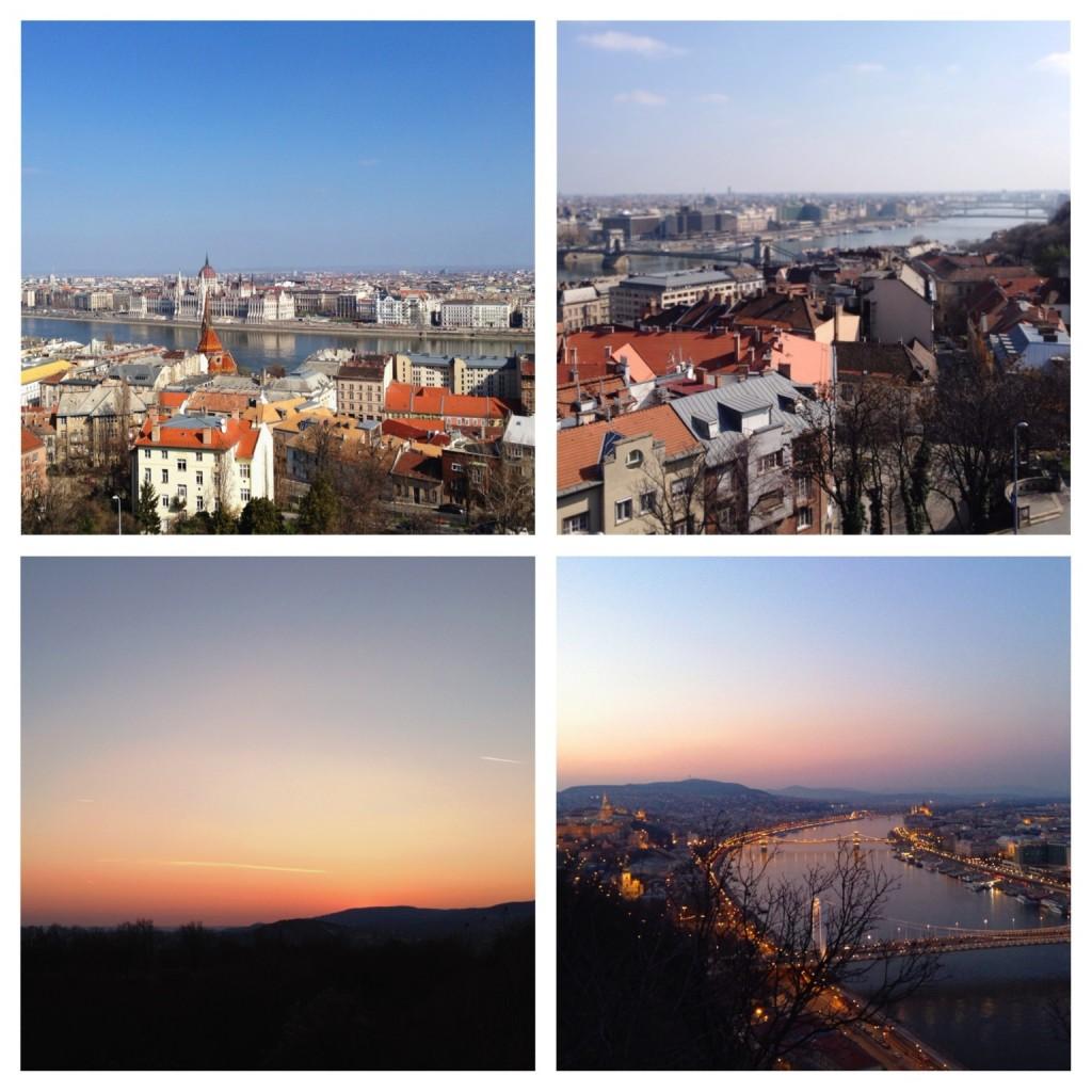 Budapester Aussicht von der Buda Seite