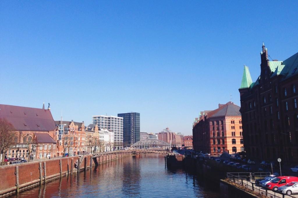 Hamburg in der Frühlingssonne