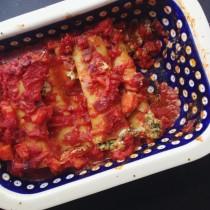 cannelloni mit veganer füllung
