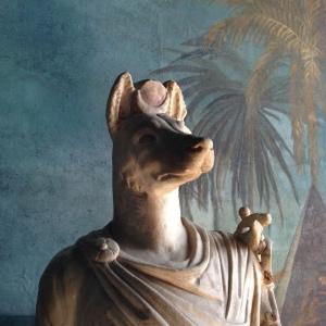 Hermanubis Statue im Vatikan