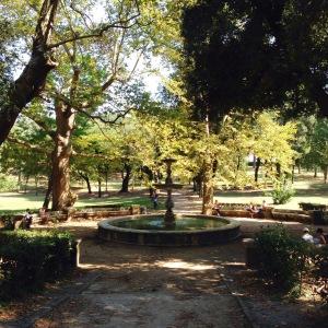 ein Brunnen im Park der Villa Borghese