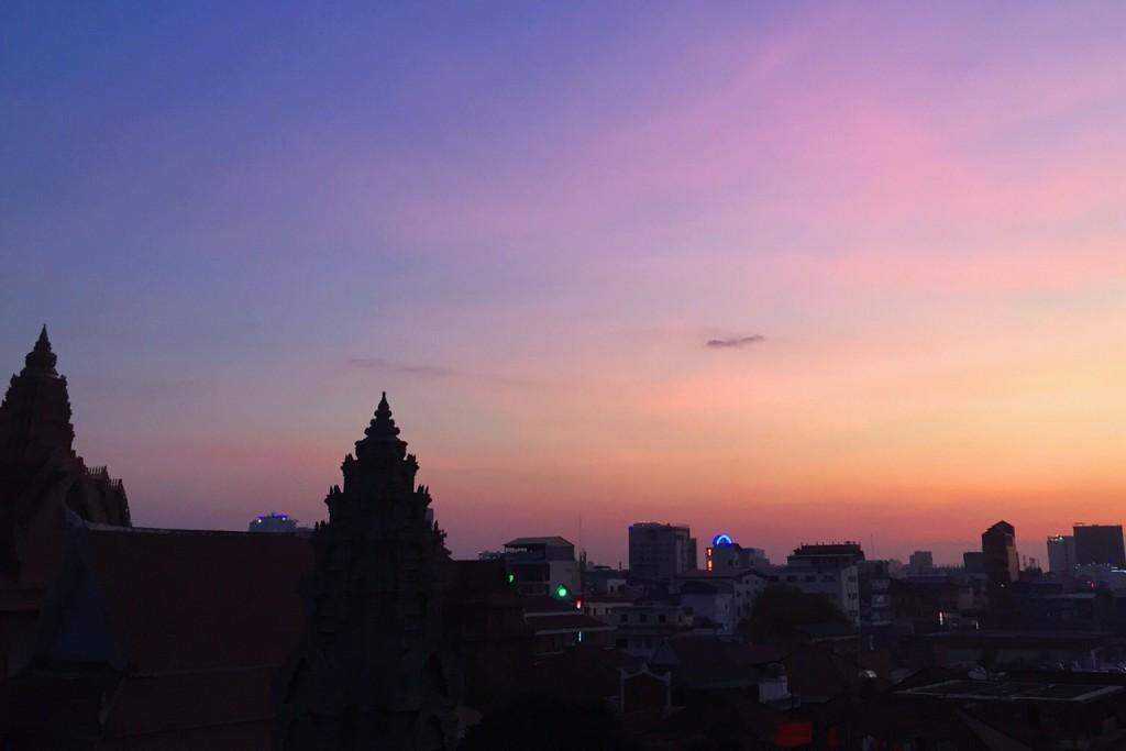 Sonnenuntergang in Phnom Penh