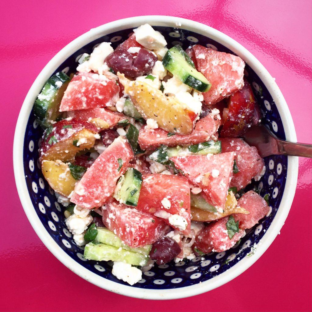 Wassermelonen Salat